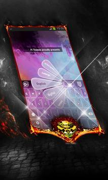 Purple flames Keyboard Cover poster