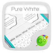 Pure White GO Keyboard Theme icon