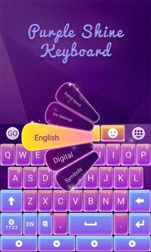 Purple Shine GO Keyboard Theme apk screenshot