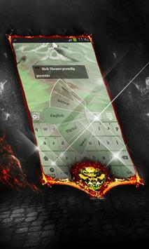 Velvet green Keyboard Layout poster