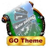 Water painting Keyboard Layout icon