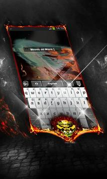 Waves on Mars Keyboard Layout apk screenshot