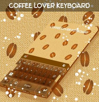 Coffee Lover Keyboard poster