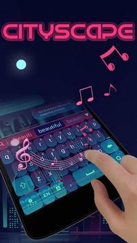 City Scape GO Keyboard Theme apk screenshot