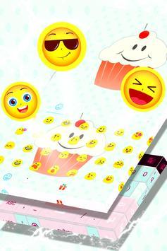 Cute Keyboard Cupcakes Theme screenshot 4