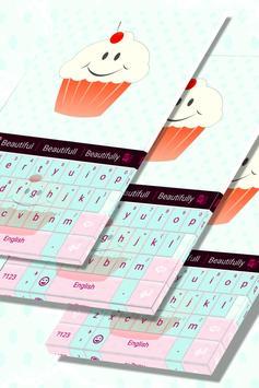 Cute Keyboard Cupcakes Theme poster