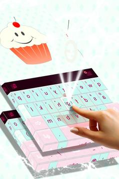 Cute Keyboard Cupcakes Theme screenshot 1