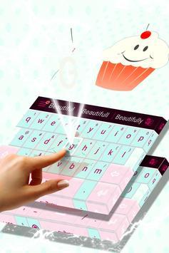 Cute Keyboard Cupcakes Theme screenshot 2