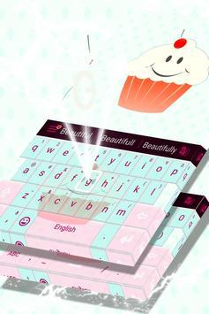 Cute Keyboard Cupcakes Theme screenshot 3