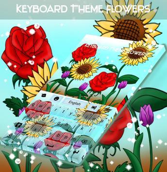 Keyboard Theme Flowers poster