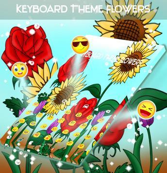 Keyboard Theme Flowers apk screenshot