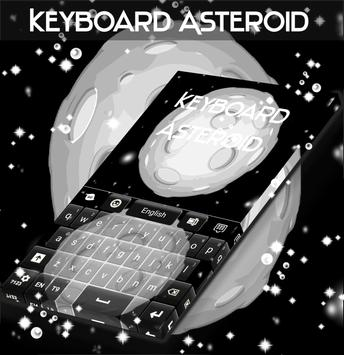 Asteroid Keyboard poster