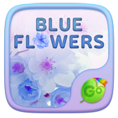 Blue Flowers GO Keyboard Theme icon