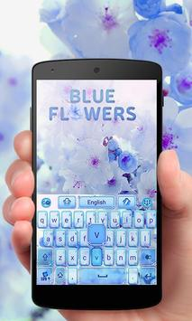 Blue Flowers GO Keyboard Theme poster