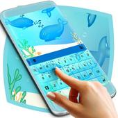 Blue Whales Keyboard Theme icon