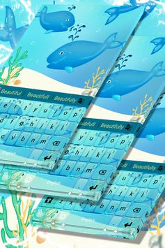 Blue Whales Keyboard Theme poster