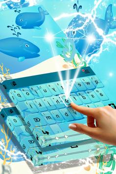 Blue Whales Keyboard Theme screenshot 1