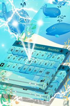 Blue Whales Keyboard Theme screenshot 3