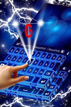 Neon Blue Theme for Keyboard apk screenshot