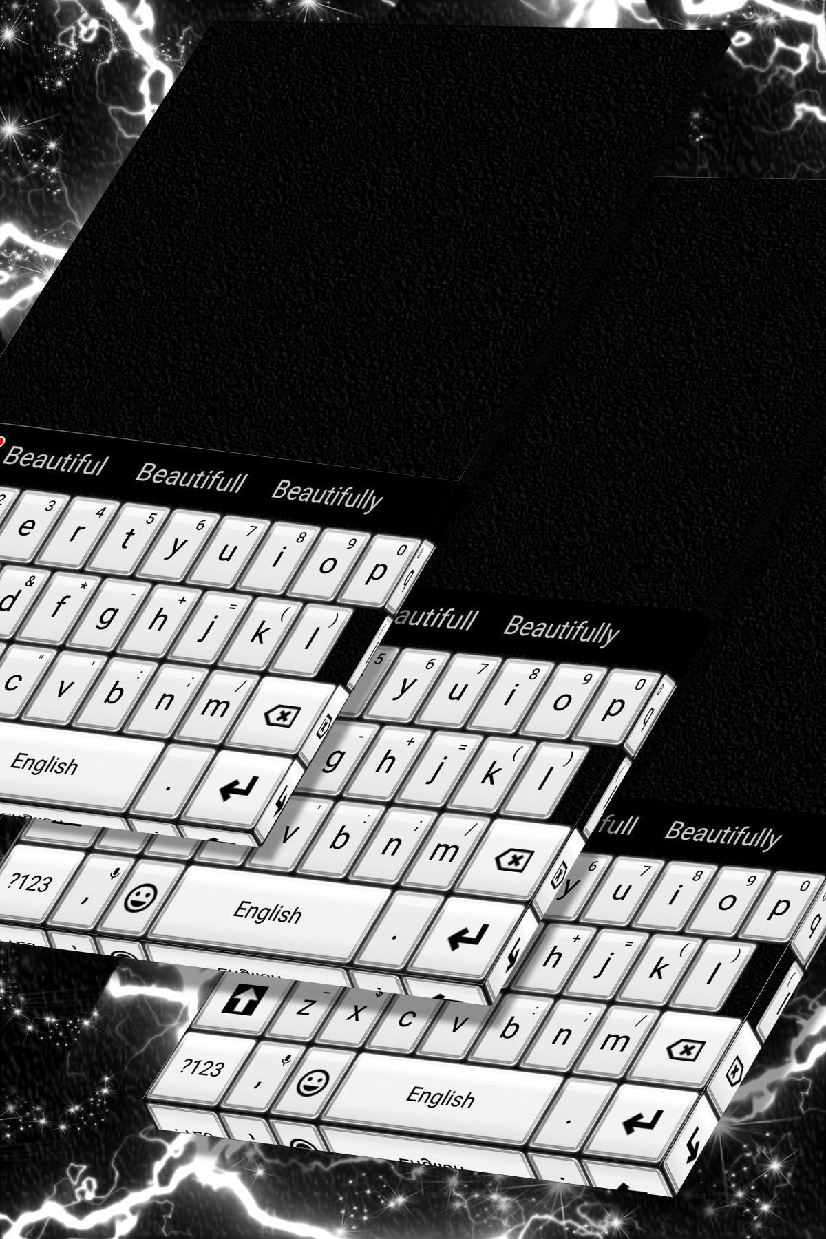 Keyboard Tema Hitam Putih for Android   APK Download