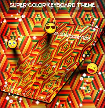 Super Color Keyboard Theme poster