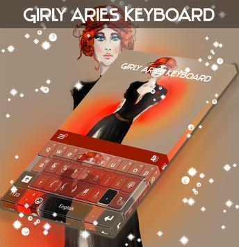 Girly Aries Keyboard poster