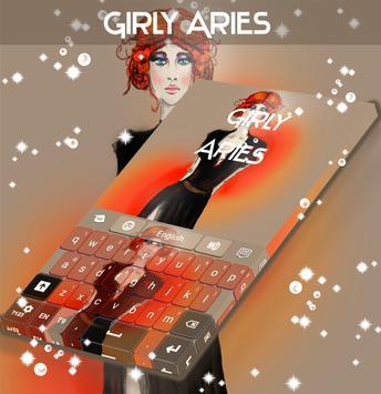 Girly Aries Keyboard poster