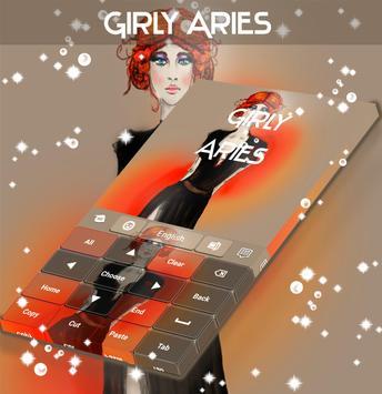 Girly Aries Keyboard apk screenshot