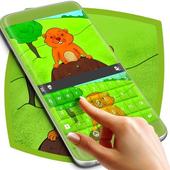 Cute Groundhog Keyboard For Kids icon