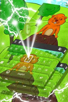 Cute Groundhog Keyboard For Kids apk screenshot