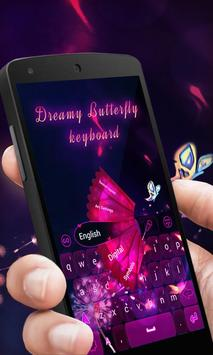 Dream Butterfly Keyboard Theme apk screenshot