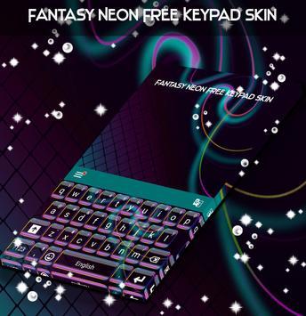 Fantasy Neon Free Keypad Skin apk screenshot