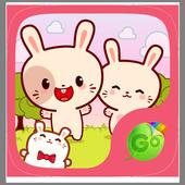 Kawaii Bunny GO Keyboard Theme icon