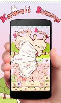 Kawaii Bunny GO Keyboard Theme poster