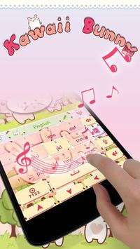 Kawaii Bunny GO Keyboard Theme apk screenshot