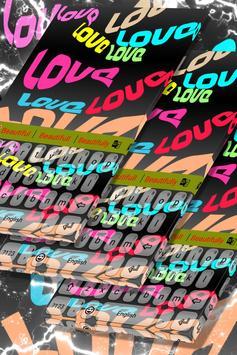 60s Love Keyboard Theme apk screenshot