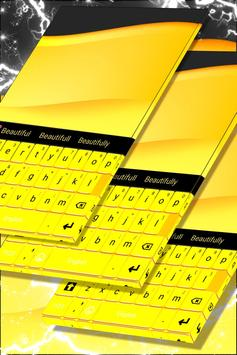 Yellow Keyboard For Android poster