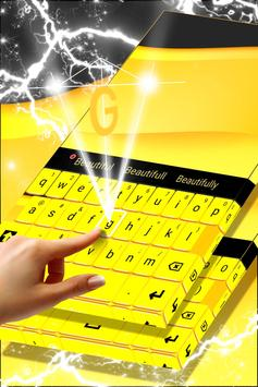 Yellow Keyboard For Android screenshot 2