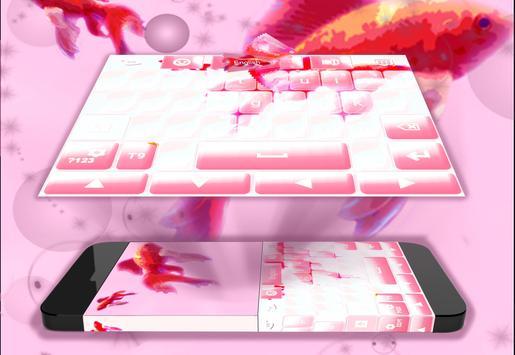 Pink Fish Keyboard Theme apk screenshot