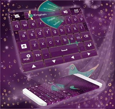 Keyboard Purple poster