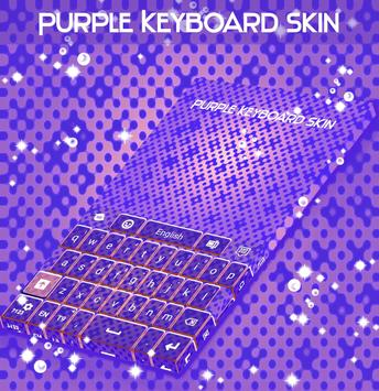 Purple Keyboard Skin apk screenshot