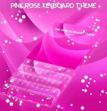 Pink Rose Keyboard Theme screenshot 3