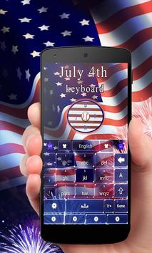 July 4th GO Keyboard Theme poster
