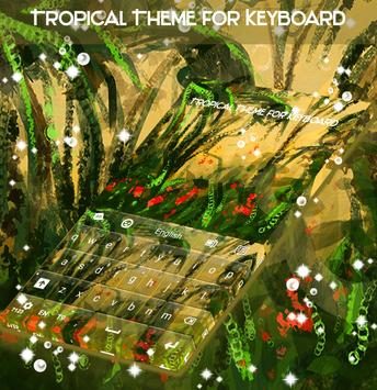 Tropical Theme for Keyboard poster