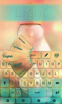 Light GO Keyboard Theme Emoji apk screenshot