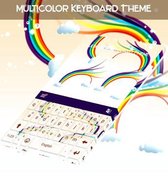 Multicolor Keyboard Theme poster