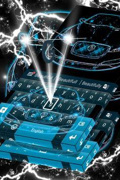 Neon Blue Cars Keyboard Theme screenshot 3