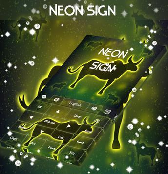 Neon Ox Sign Keyboard apk screenshot