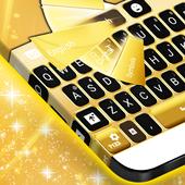 Neon Gold Keyboard Theme icon