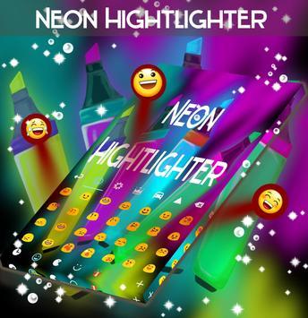 Neon Hightlight Keyboard Theme apk screenshot